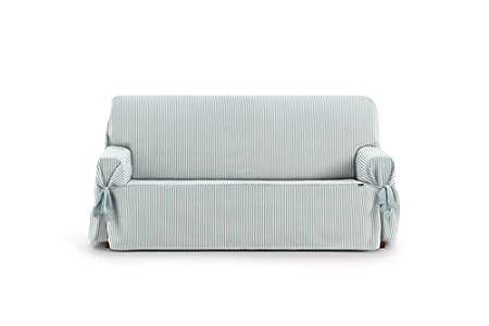 Eysa Calma Funda de sofá, Algodón, Azul (Aquamarine), 3 Plazas