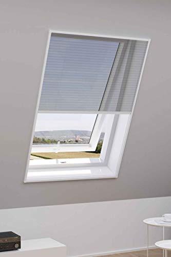Powerfix® Alu Insektenschutz für Dachfenster Plissee Natürlicher Schutz 110 x160 Weiß