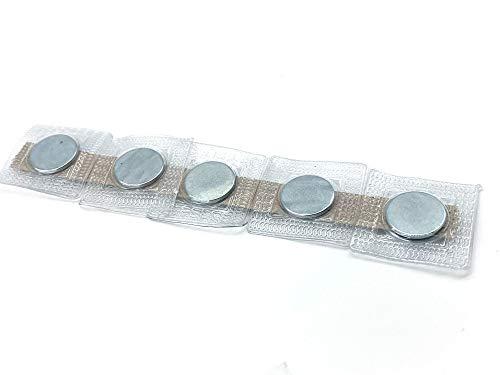 Neodym Scheibenmagnete extra stark zum Basteln & Nähen in Quadratischer PVC Hülle (10 Stück I 18x2mm)