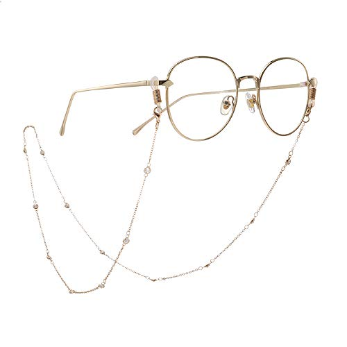 VLHVAQ DFRXK-ACCES Brillenketting Moda Brillenketting anti-slip zirkonia handmatig kettingen brillenkabel voor vrouwen parels strap nek strap nep strap houder voor zonnebrillen