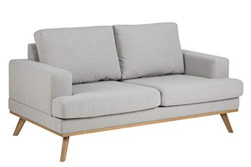 Amazon Brand - Movian Rotsee - Divano a 2 posti, 92 x 165 x 81 cm (Lu x La x A), grigio chiaro (tessuto Stuart)