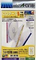 (まとめ買い) エーワン CDケース背面用ラベル 光沢紙 7面 12枚 29315 【×5】