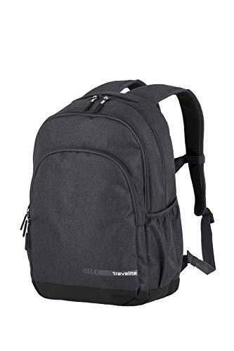 travelite Handgepäck Rucksack Größe L erfüllt IATA Bordgepäck Maß, Gepäck Serie KICK OFF: Praktischer Rucksack für Urlaub und Sport, 006918-04, 45 cm, 22 Liter, d'anthrazit (grau)