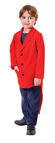 Bristol Novelty- CC466 Manteau a Queue de Pie Rouge pour Enfant, Taille L, Garçon, Red, grand