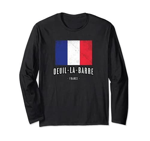 Deuil-la-Barre Francia   FR Città Bandiera - Drapeau - Maglia a Manica