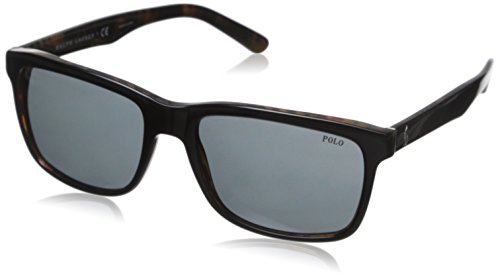 Polo Ralph Lauren Herren Mod.4098 Sonnenbrille, Top black on jerry tortoise/Gray