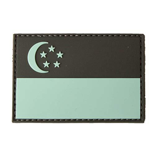 TACOPSGEAR Singapur Singapore Flag Flaggen Patch - Black/Blue