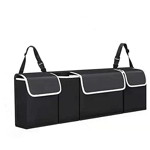 QMMB Organizzatore Bagagli Auto, Tasche Multiple E Grande Spazio di Archiviazione, Organizzatore Bagagli Appeso Regolabile, Adatto per La Maggior Parte delle Auto (Nero)