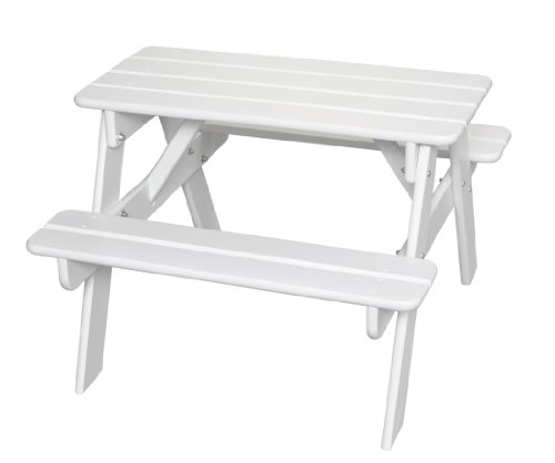Little Colorado Classic Toddler Picnic Table – Easy Assembly Kids Picnic Table/for Indoor and Outdoor Use/Handcrafted in The USA (Solid White)