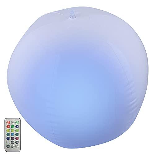 Aufblasbare Schwimmende Ballled, Speyang Led-Dimmbare Leuchtender Wasserball, Schwimmende Poolbeleuchtung, Farbwechsel mit Fernbedienung Wasserdicht Led Kugel, 13 RGB Stimmungslichter