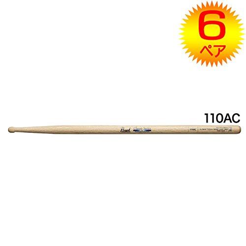 【6ペア】Pearl パール 110AC オーク ドラムスティック クリアラッカーフィニッシュ [14.5x398]