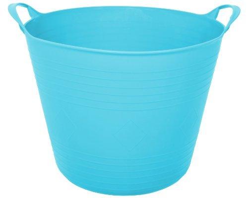 Ondis24 praktischer Tragekorb aus flexiblen Kunststoff für Flüssigkeiten und Feste Stoffe geeignet, hellblau, 27 Liter Volumen