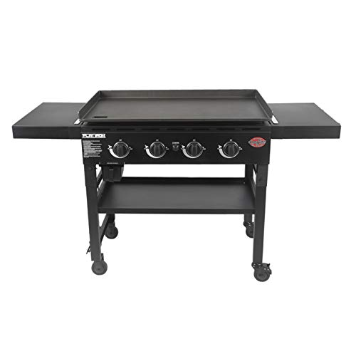 "Char-Griller E8936 Flat Iron 36"" Gas Griddle, Black"