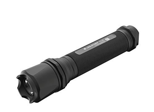 CHIP FIRE TX3000R LED-Taschenlampe, wiederaufladbar, 18650 Akku, mit taktischem Lampenkopf, Stroboskoplicht,1000 Lumen, 230m Leuchtweite, inkl. Gürteltasche und Handschlaufe, 1 Stk.
