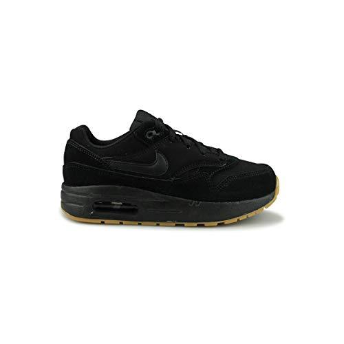 Nike Air Max 1 (PS), Chaussures de Running Compétition garçon, Multicolore (Black/Black/Black/Gum Light Brown 008), 31 EU