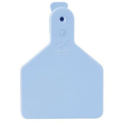 Z Tags 9053615, Blue 25 Count 1-Piece Blank Tags for Calves, Calf