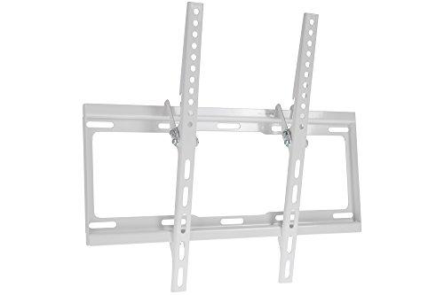 Proper - Soporte de Pared inclinable Universal para televisores Planos y curvados de 32', 40', 42', 43', 48', 50' y 55', Color Blanco