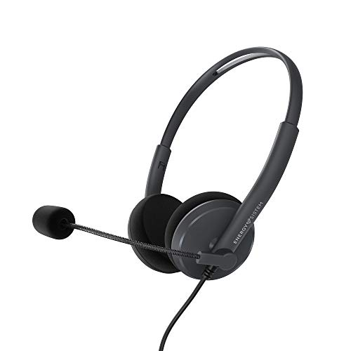 Energy Sistem Headset Office 2 Anthracite (On-Ear, PC/Mac/Smartphone Compatible, Enchufe 3,5mm, Micro retráctil)