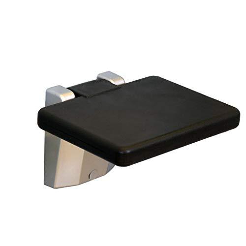 Asiento de ducha plegable Silla de taburete de seguridad montada en la pared del baño, Base de aleación de aluminio con asiento de PVC, Taburete de ducha de baño de servicio pesado para ancianos, disc
