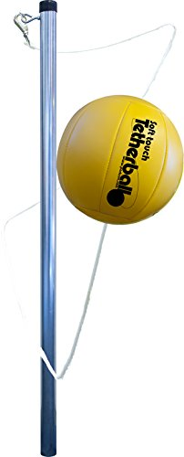 Park & Sun Sports Portable Outdoor Tetherball Set with Carrying Bag and Accessories (3-Piece Tri-Pod Base/Pole)