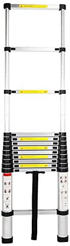new arrival 12.5ft Telescoping Extension Ladder Non-Slip Steps Aluminum Extendable Telescopic Ladder with Spring Loaded Locking Mechanism outlet online sale Rubber Feet 330 Pound wholesale Capacity EN131 Certified for DIY Projects outlet online sale