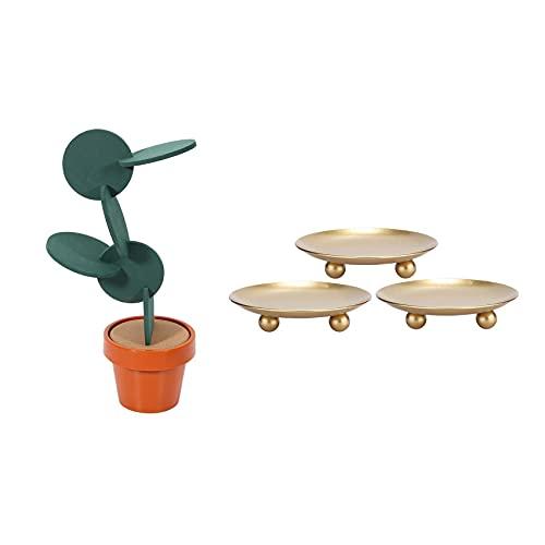 YANJ 8 Pcs New DIY Table Decoration Novelty Cup Heat Insulation Mat & 3 Pcs Iron Plate Candle Holder