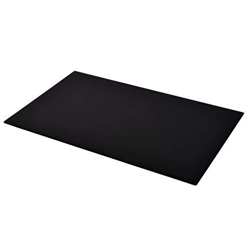 UnfadeMemory Tischplatte aus gehärtetem Glas Tisch Glasplatte Ersatzteil für Esstisch Couchtisch oder Gartentische (1000x620mm, Schwarz Rechteckig)