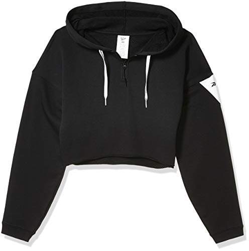 Reebok Workout Ready Meet You There 1/4 Zip Hoodie, Black, Small