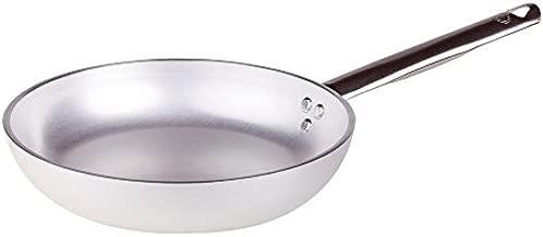 Pentole Agnelli Aluminium Professional Radiant Frying Pan 5 Mm. Thick with Tubular Steel Handle, Diameter 28 cm.