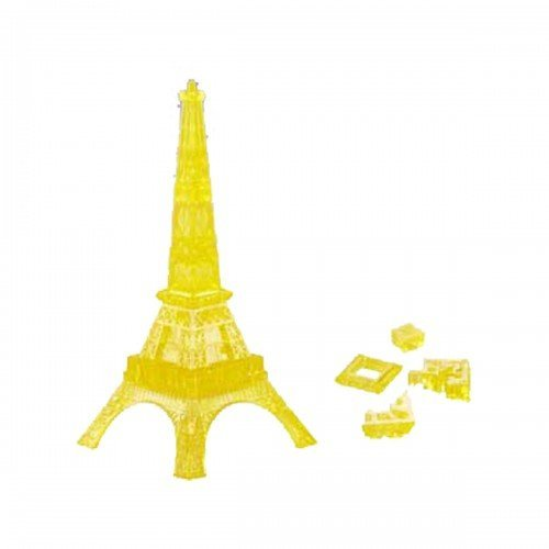 24 Piece Light-Up Translucent Crystal 3D Eiffel Tower Puzzle (Yellow) by CNH