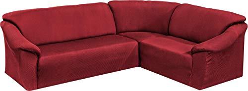 Tunez - Funda para sofá esquinero, color Burdeos