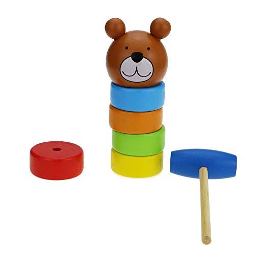 HangaroneBausteine Holz Regenbogen schlagen Spielzeug, Puzzle Säuglingsspielzeug Regenbogen Stapelturm Spiel Wissenschaft Bildung Spielzeug Unsterblich Daruma.5X21cm