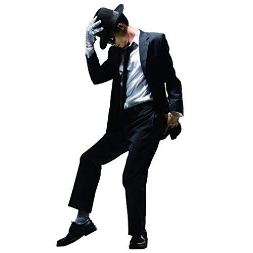 Shuanghao Michael Jackson Space Dance Cos Kid Erwachsene Halloween Cosplay Kostüm Costume 6pcs MJ gefährliche Klage Jacke + Hose + weißes Hemd + Hut + Krawatte + Handschuhe (rechte (150cm)
