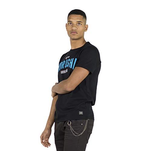 KOROSHI - Camiseta Estampado DE Texto (L)
