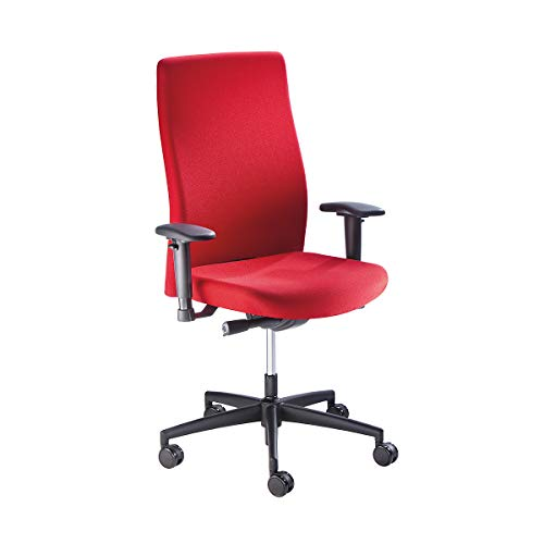 Prosedia Operator-Drehstuhl, Rückenlehnenhöhe 590 mm - Synchronmechanik, Flachsitz mit Knierolle - rot - Arbeitsdrehstuhl Arbeitsdrehstühle Bürodrehstuhl Bürodrehstühle Bürostuhl Bürostühle Drehstuhl Drehstühle Operatordrehstuhl Operatordrehstühle Stuhl