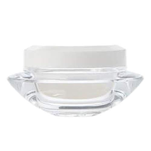 Milageto Caja de Plástico Vacía del Tarro del Polvo del Envase Cosmético del Envase de La Sombra de Ojos de La Loción Redonda del Pote del Maquillaje - 15g