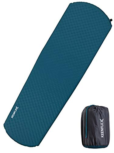 KeenFlex Camping Isomatte Schlafmatte Selbstaufblasend 4cm dick Leicht Wasserresistente Camping Luftmatratze zum Wandern, Backpacking, Outdoor (Petroleum)