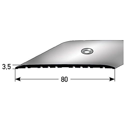 **TOPSELLER** Übergangsprofil/Übergangsschiene / 80 mm, Typ: 350 (Aluminium, mittig gebohrt), Farbe: SILBER