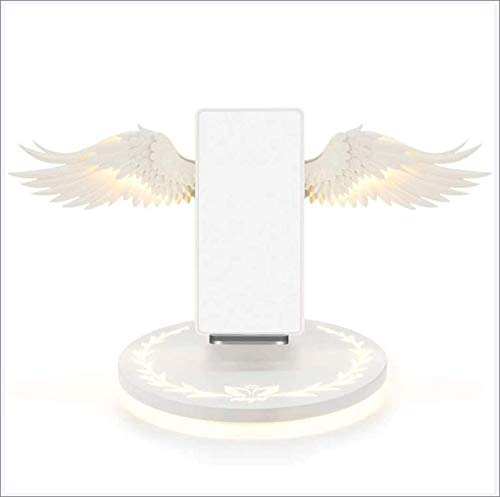 JayQm Base de Soporte de Carga inalámbrica Universal Wireless Fast Charger LED qi Base de Carga inalámbrica de 10W Cargador rápido Compatible con iOS y teléfono Inteligente Android,Blanco