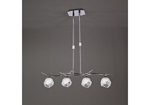 Articles déco Suspension téléscopique Design Bali CROMO 4L - Ampoule G9 osram - Mantra