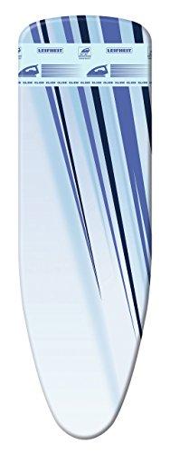 Leifheit Bügeltischbezug Thermo Reflect Glide S/M, für Bügelflächen bis max. 125 x 40 cm, für Dampfbügeleisen, mit Dampf- und Hitzereflektion und zusätzlicher Gleitzone für superschnelles Bügeln