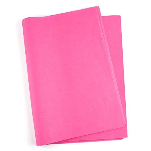 MIAHART 60 hojas de papel de seda para el día de San Valentín 50x35 CM papel de regalo rosa fuerte a granel para manualidades de San Valentín