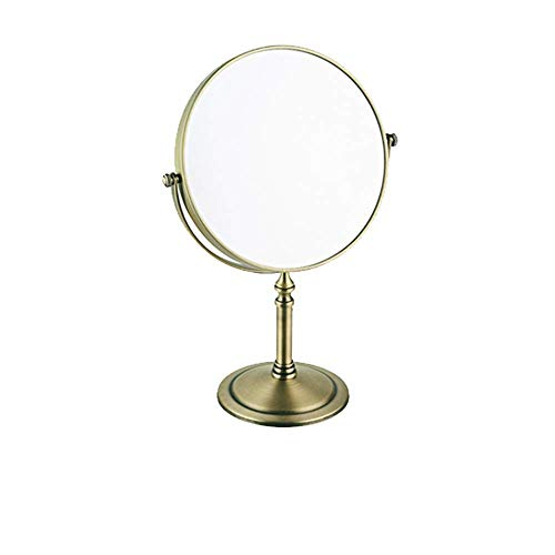NHLBD LIHAIHAI Beautiful Fashion Espejos de Maquillaje afeitando Lados Dobles espejo1x 3X Lupa de baños giratorias Espejos de Hotel (Color : D)