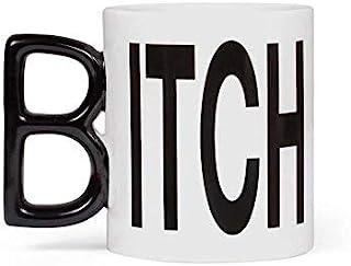 Thumbs Up Tasse Itch Mug, Keramik, weiß/schwarz, 12 x 9,5 x