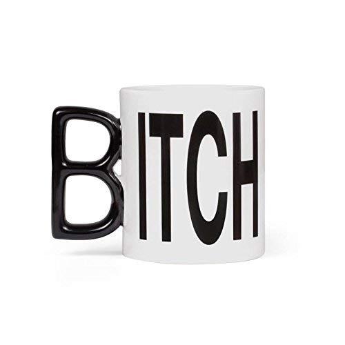 Thumbs Up Tasse Itch Mug, Keramik, weiß/schwarz, 12 x 9,5 x 8 cm