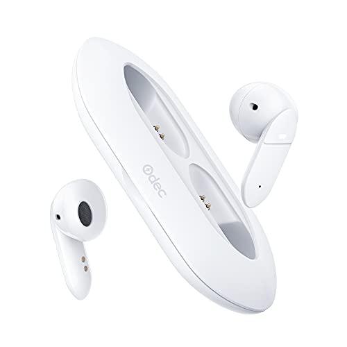 Auricolari Bluetooth 5.1, Super Leggero Cuffie Wireless Bluetooth con Microfono, Bassi Profondi Semi-In-Ear Cuffie Senza...