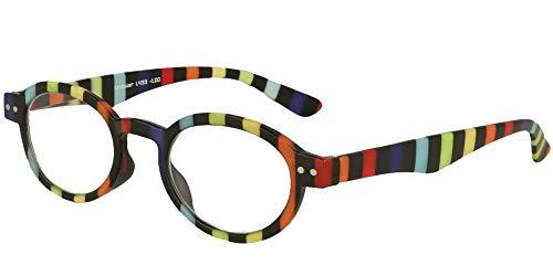 LINDAUER Klassische Lesebrille +1,0 bunt Fertigbrille für SIE & IHN Flexbügel