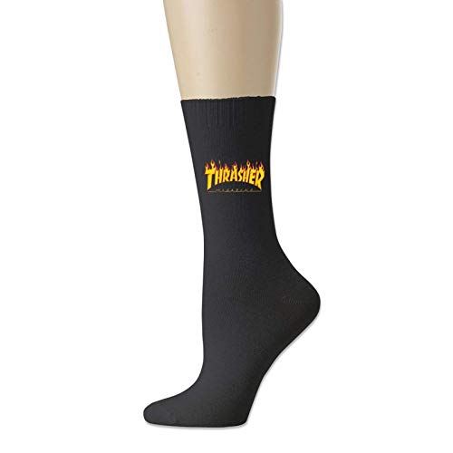 JONINOT Thrashe Novelty Crew Socks - Calcetines de algodón de vestir divertidos L18cm