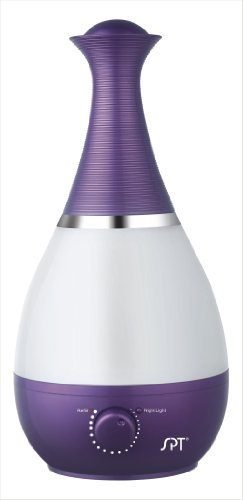 Ultrasonic Humidifier with Frangrance Diffuser and Night Light (Violet)