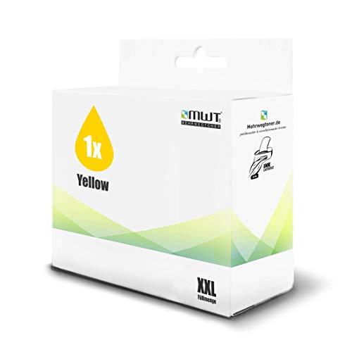 1x MWT Druckerpatrone für HP DesignJet T79024 T130044 T795 T1200HD T112044 T770 T61024 T1300 T770Hard T1200PS T112024 T620 ersetzt 72 NO72 Yellow